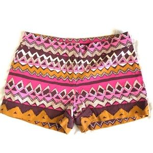LOFT Shorts - LOFT linen blend geometric tribal print shorts 6